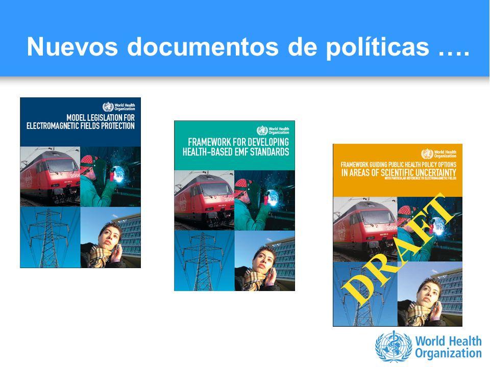 Nuevos documentos de políticas ….