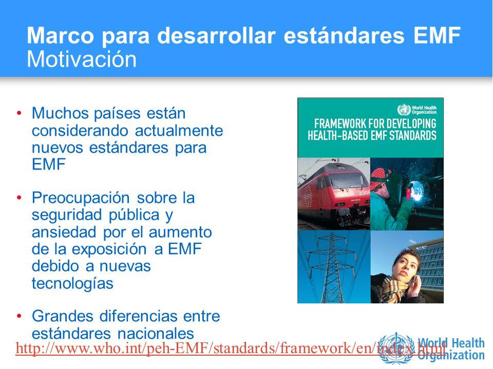 Marco para desarrollar estándares EMF Motivación