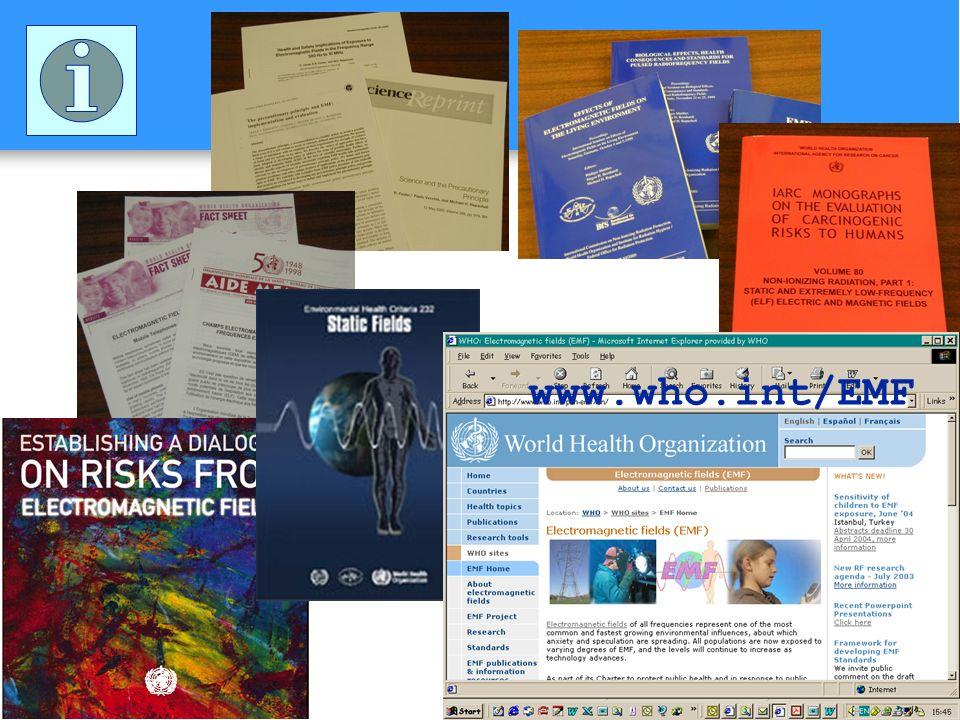 www.who.int/EMF Publications scientifiques dans des journaux où les articles sont revus par des experts.
