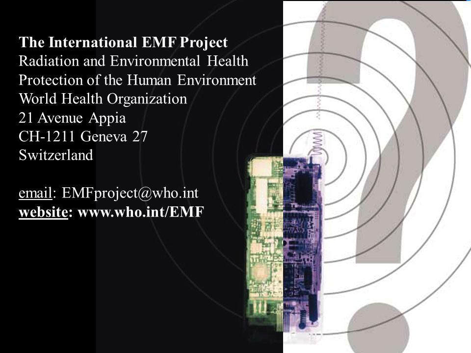 The International EMF Project Radiation and Environmental Health