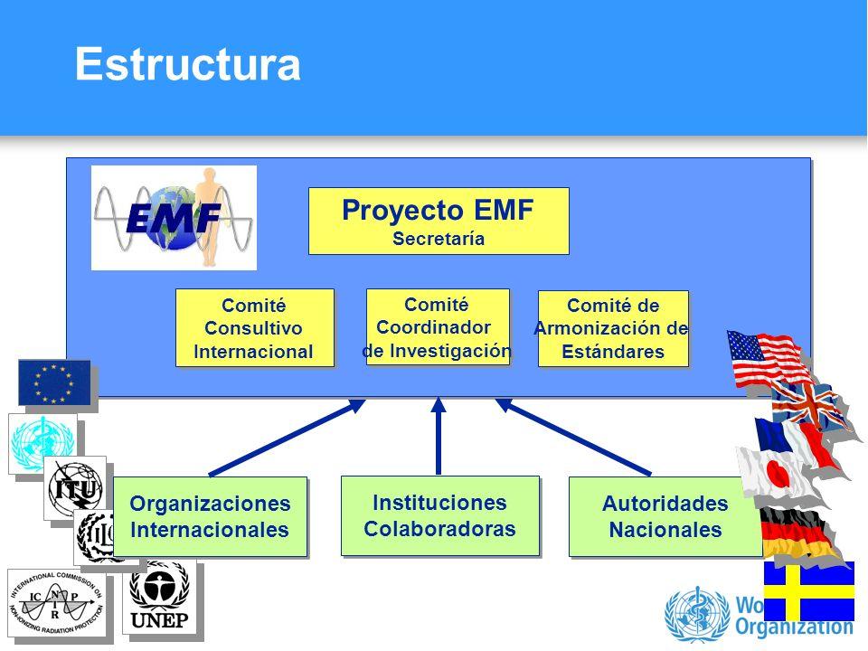 Estructura Proyecto EMF Autoridades Nacionales Organizaciones