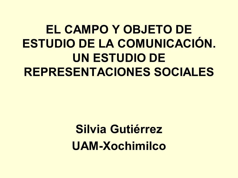 EL CAMPO Y OBJETO DE ESTUDIO DE LA COMUNICACIÓN