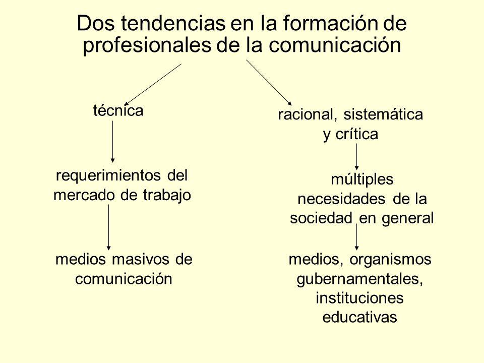 Dos tendencias en la formación de profesionales de la comunicación