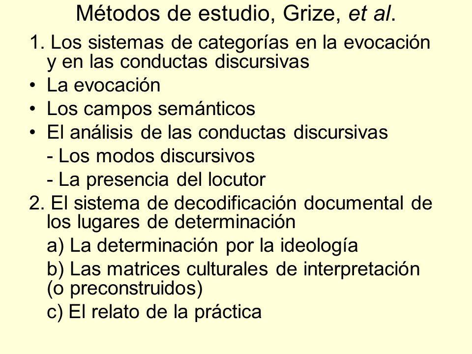 Métodos de estudio, Grize, et al.