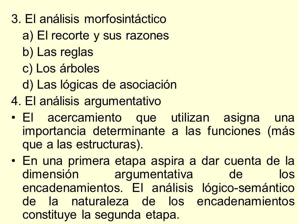 3. El análisis morfosintáctico