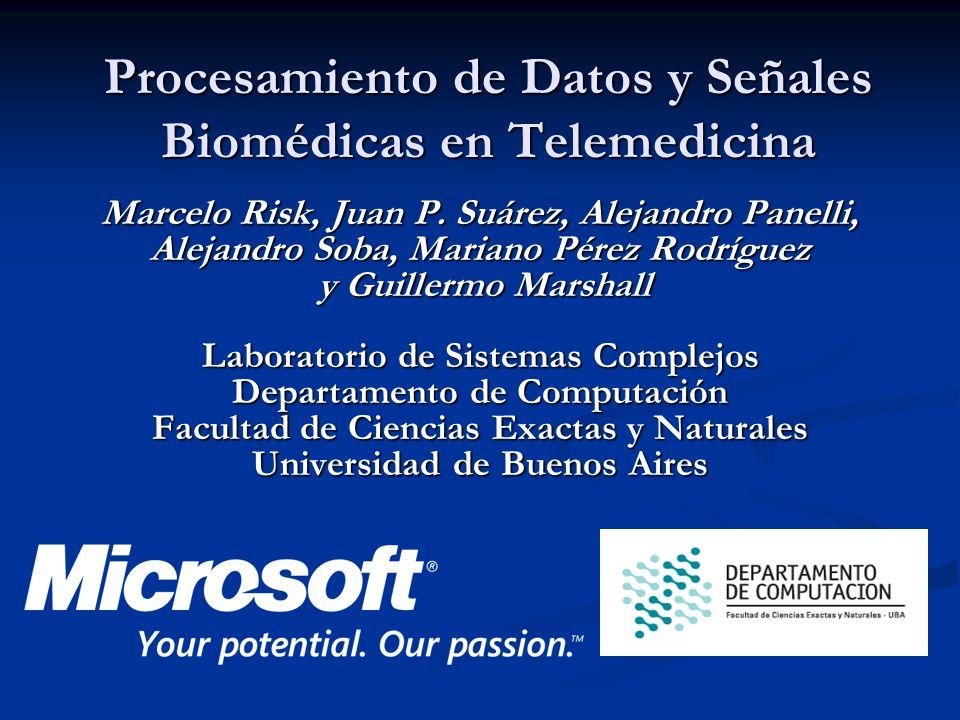 Procesamiento de Datos y Señales Biomédicas en Telemedicina