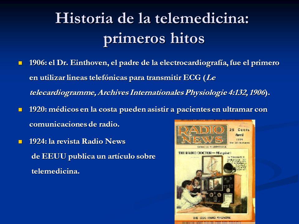 Historia de la telemedicina: primeros hitos