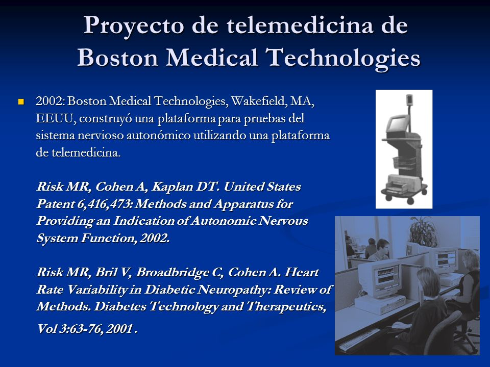 Proyecto de telemedicina de Boston Medical Technologies