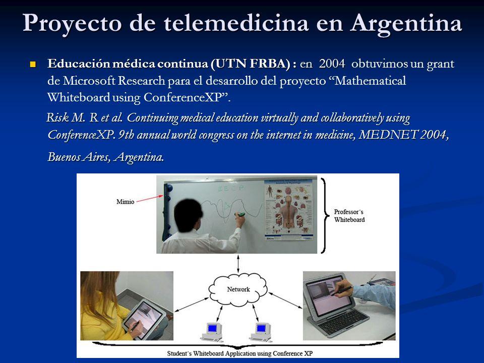 Proyecto de telemedicina en Argentina