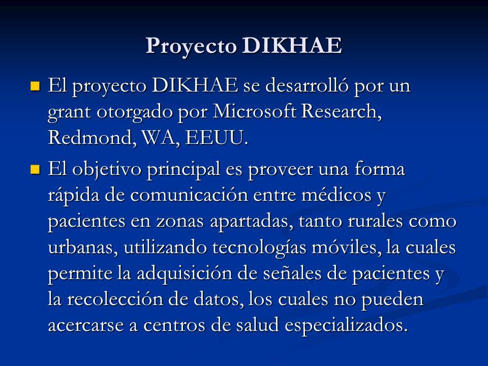 Proyecto DIKHAE El proyecto DIKHAE se desarrolló por un grant otorgado por Microsoft Research, Redmond, WA, EEUU.