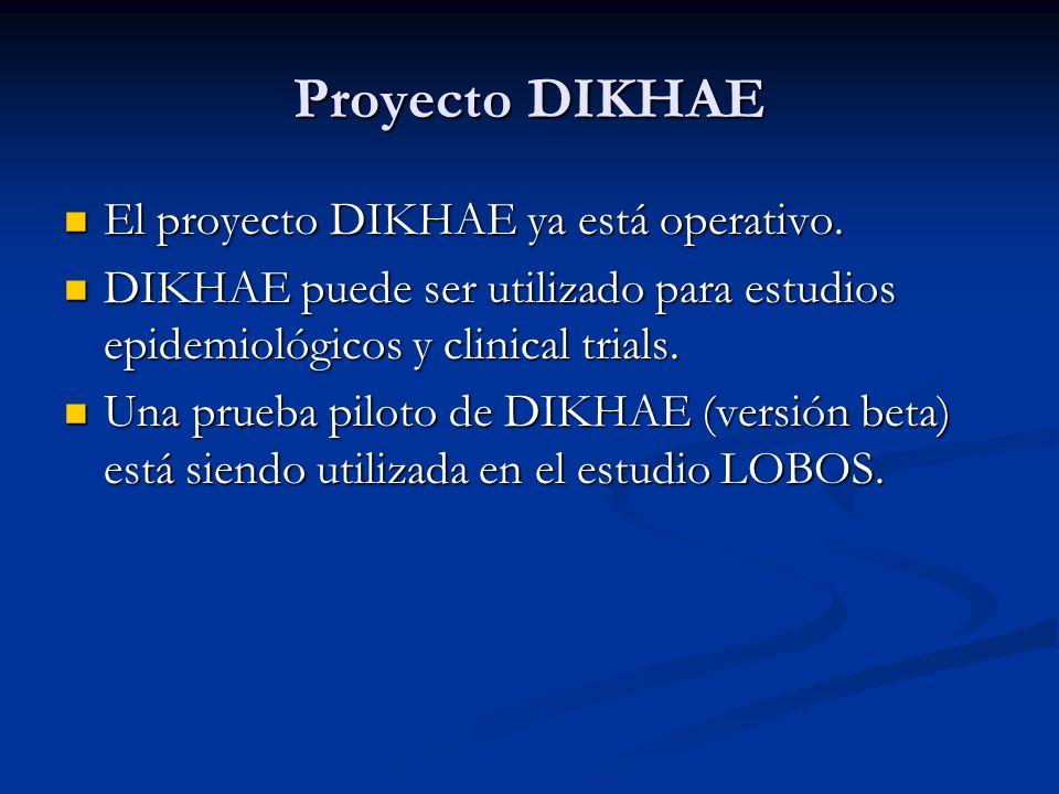 Proyecto DIKHAE El proyecto DIKHAE ya está operativo.