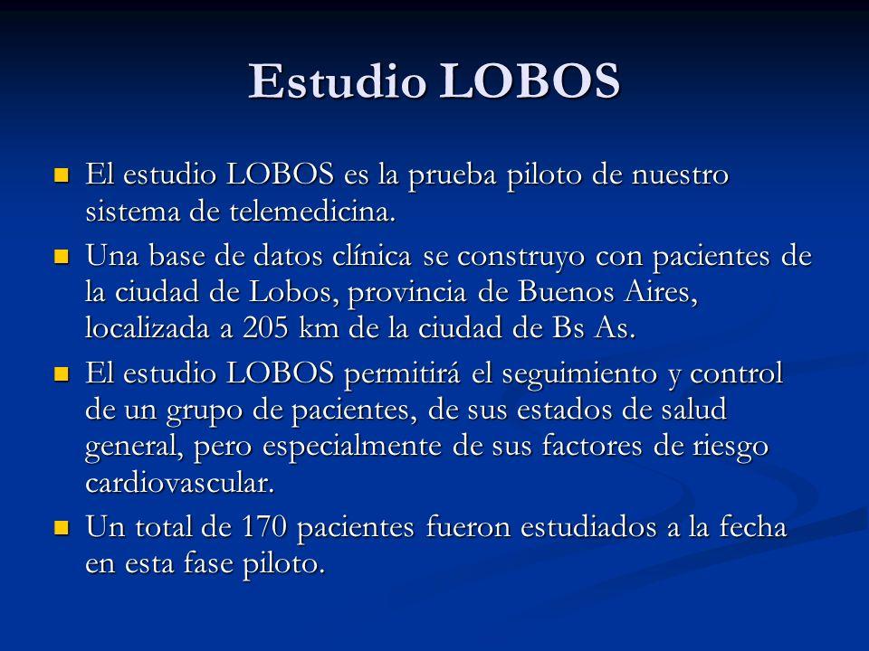 Estudio LOBOS El estudio LOBOS es la prueba piloto de nuestro sistema de telemedicina.