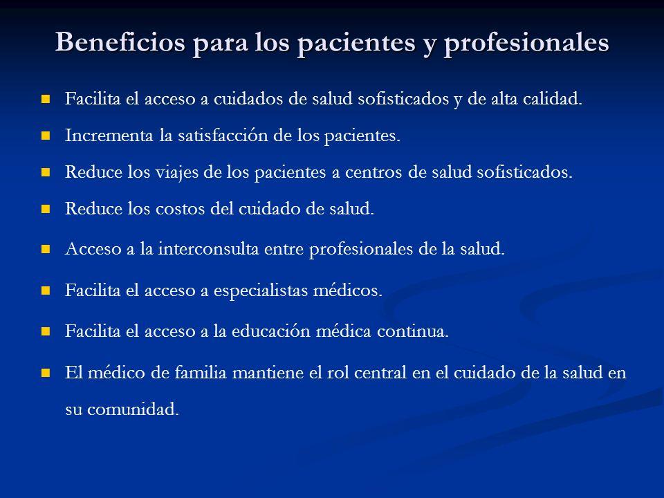 Beneficios para los pacientes y profesionales