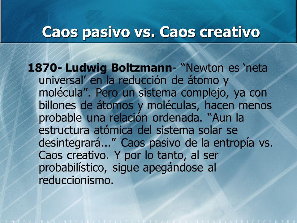 Caos pasivo vs. Caos creativo