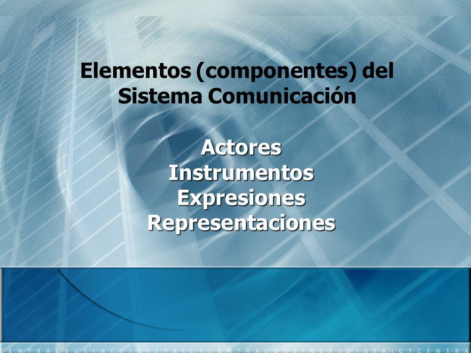 Elementos (componentes) del Sistema Comunicación