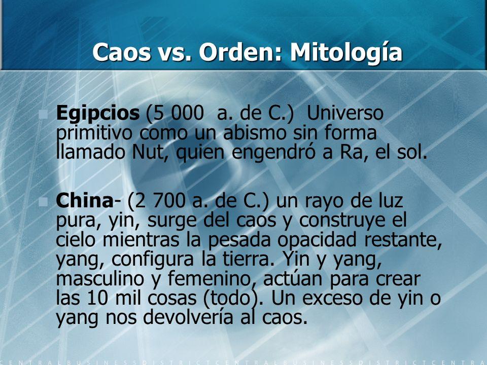 Caos vs. Orden: Mitología