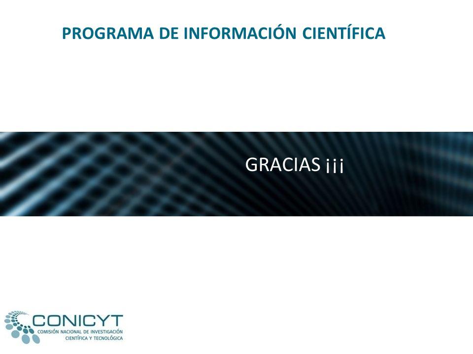 PROGRAMA DE INFORMACIÓN CIENTÍFICA