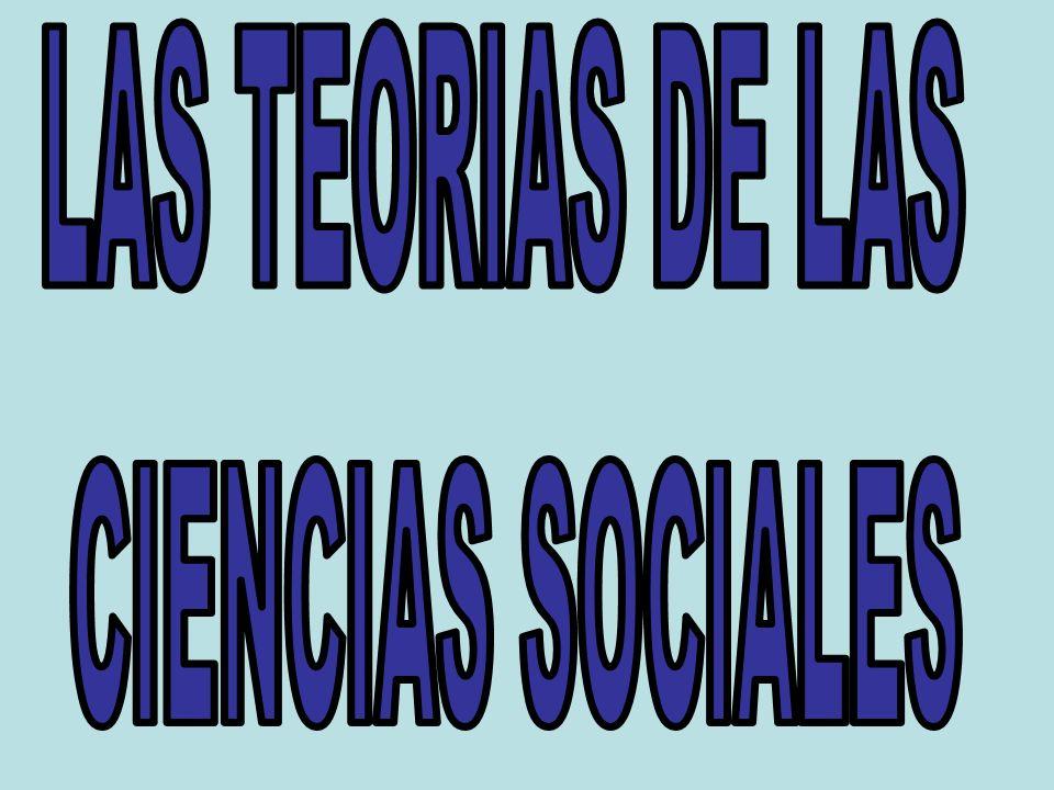 LAS TEORIAS DE LAS CIENCIAS SOCIALES