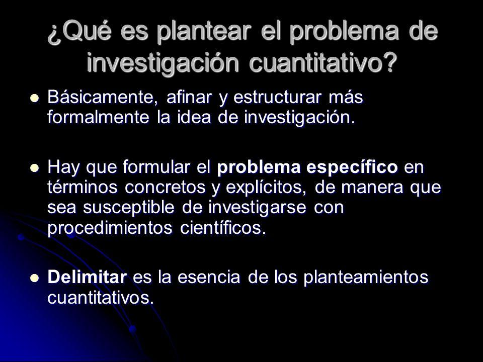 ¿Qué es plantear el problema de investigación cuantitativo