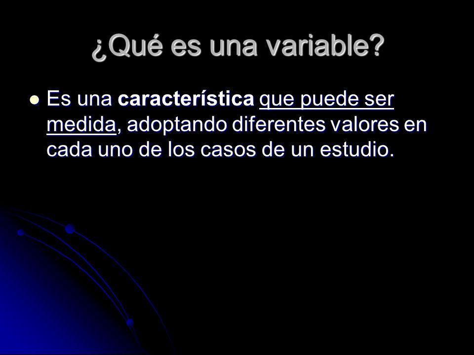 ¿Qué es una variable.
