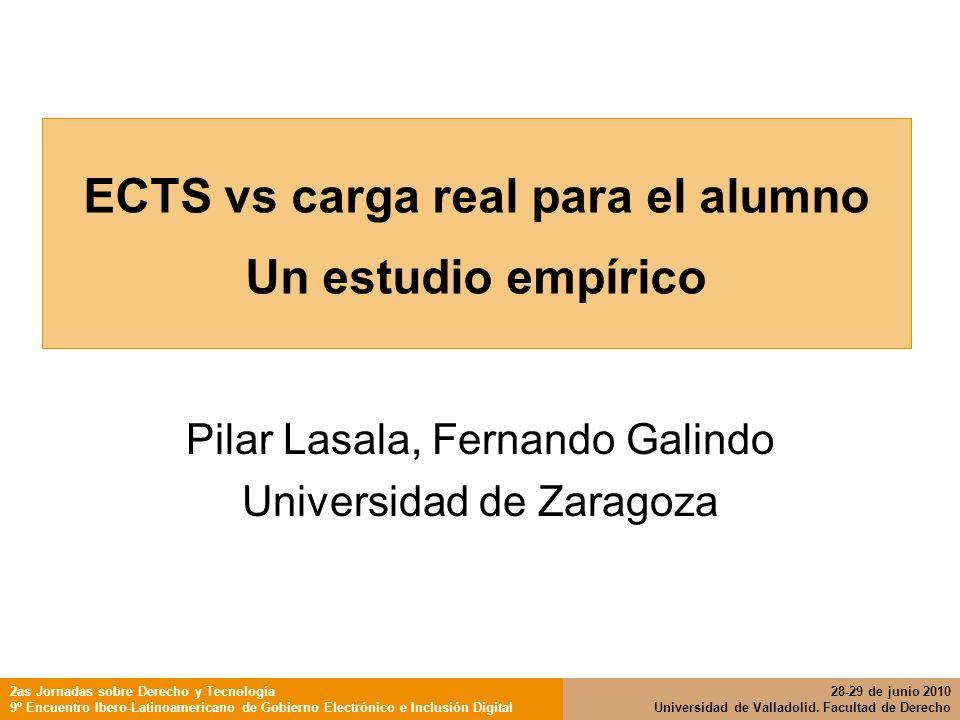 ECTS vs carga real para el alumno Un estudio empírico