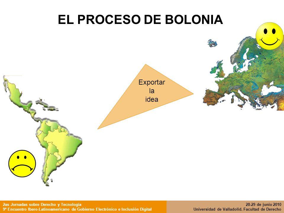 EL PROCESO DE BOLONIA Exportar la idea