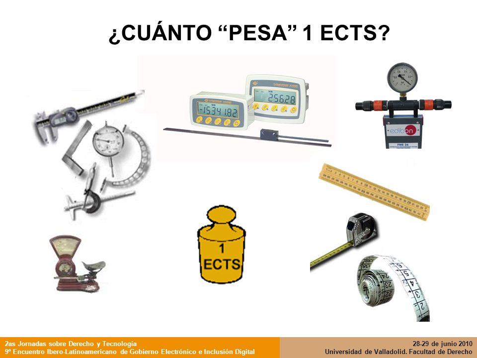 ¿CUÁNTO PESA 1 ECTS 2as Jornadas sobre Derecho y Tecnología