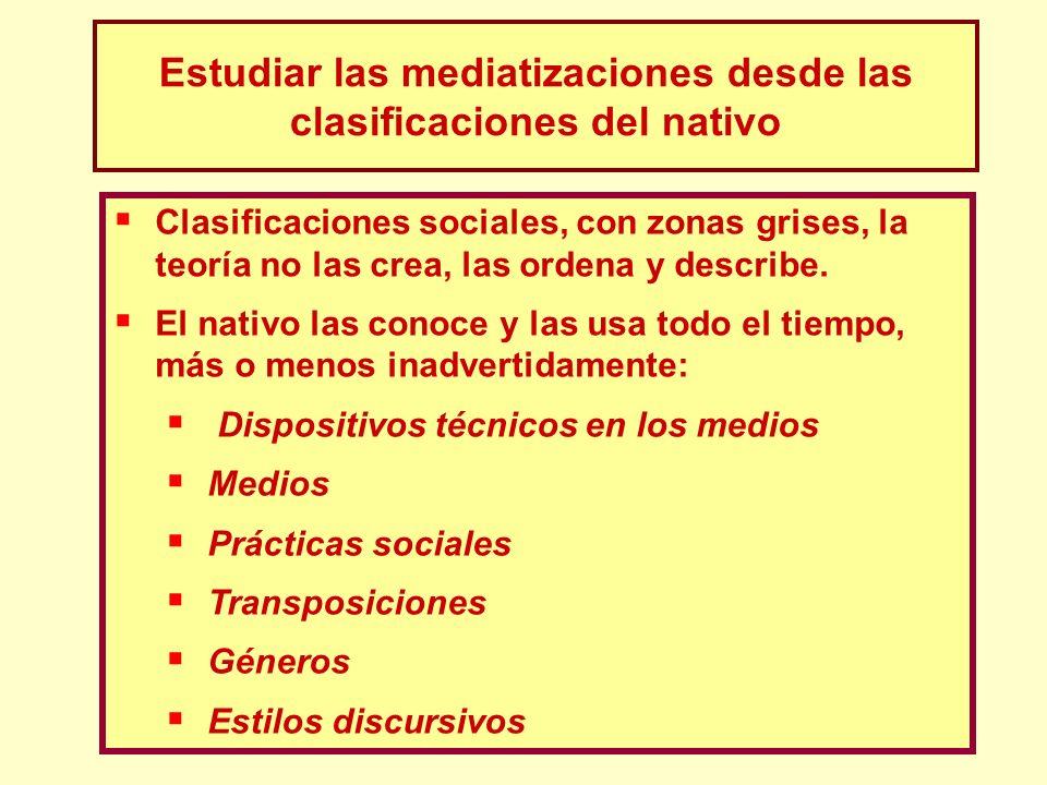 Estudiar las mediatizaciones desde las clasificaciones del nativo