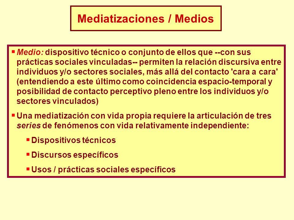 Mediatizaciones / Medios