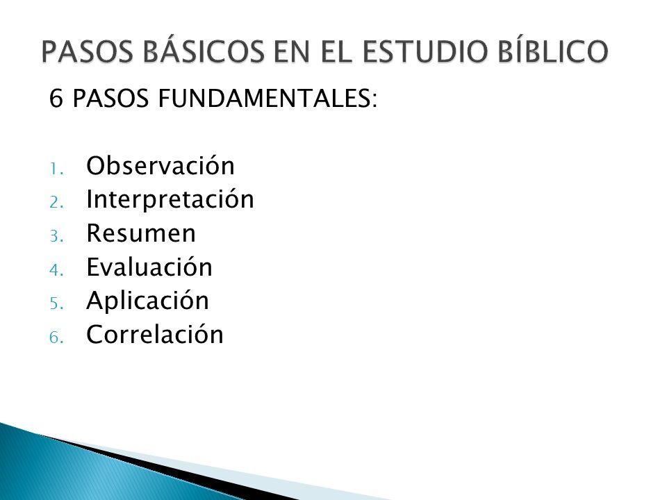 PASOS BÁSICOS EN EL ESTUDIO BÍBLICO