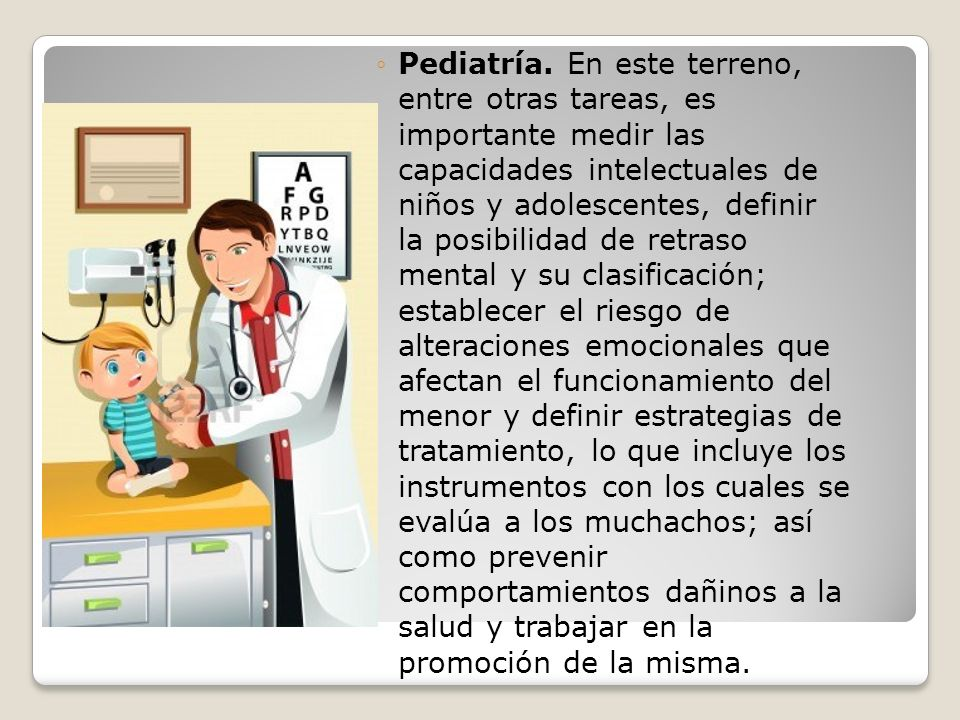 Pediatría.