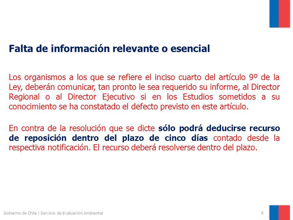 Falta de información relevante o esencial