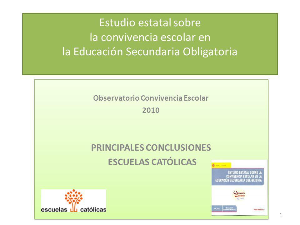 Observatorio Convivencia Escolar PRINCIPALES CONCLUSIONES