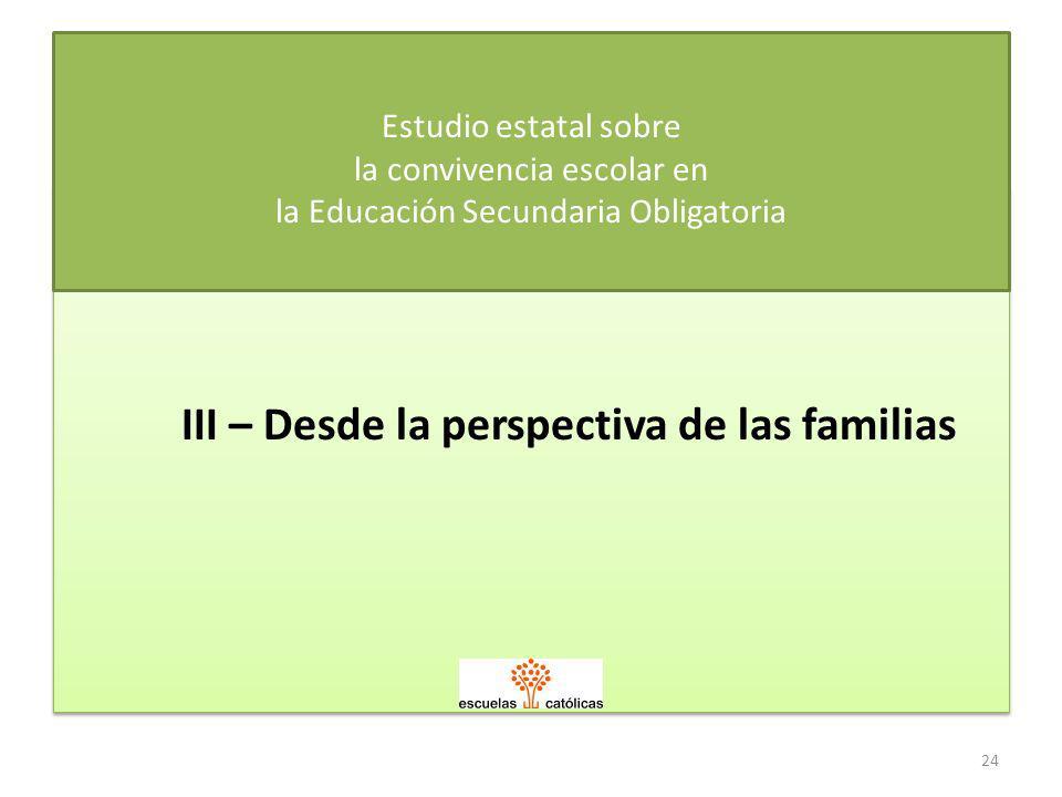 III – Desde la perspectiva de las familias