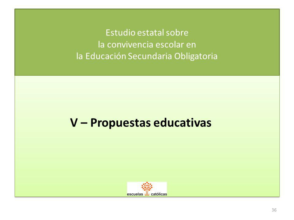 V – Propuestas educativas
