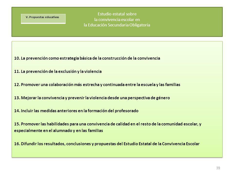 11. La prevención de la exclusión y la violencia