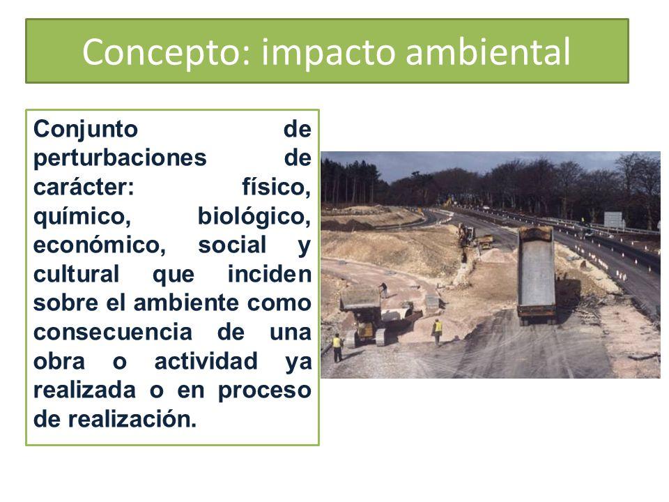 Concepto: impacto ambiental