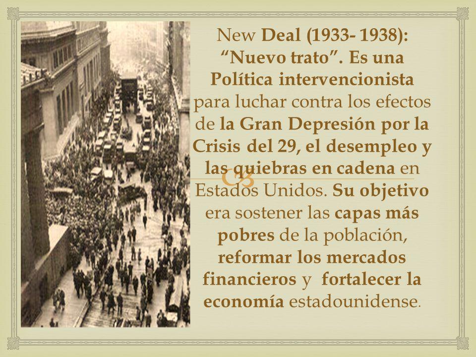 New Deal (1933- 1938): Nuevo trato