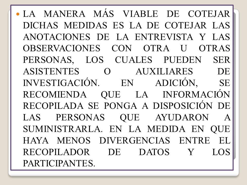 VALIDEZ Y CONSISTENCIA DE LOS ESTUDIOS DE CASO