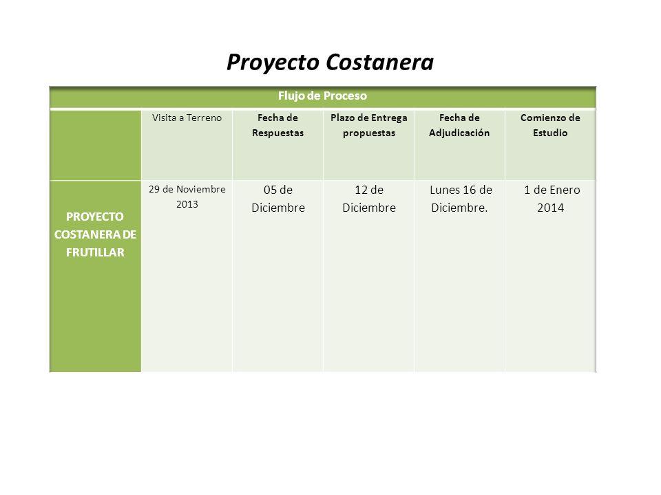 Plazo de Entrega propuestas PROYECTO COSTANERA DE FRUTILLAR
