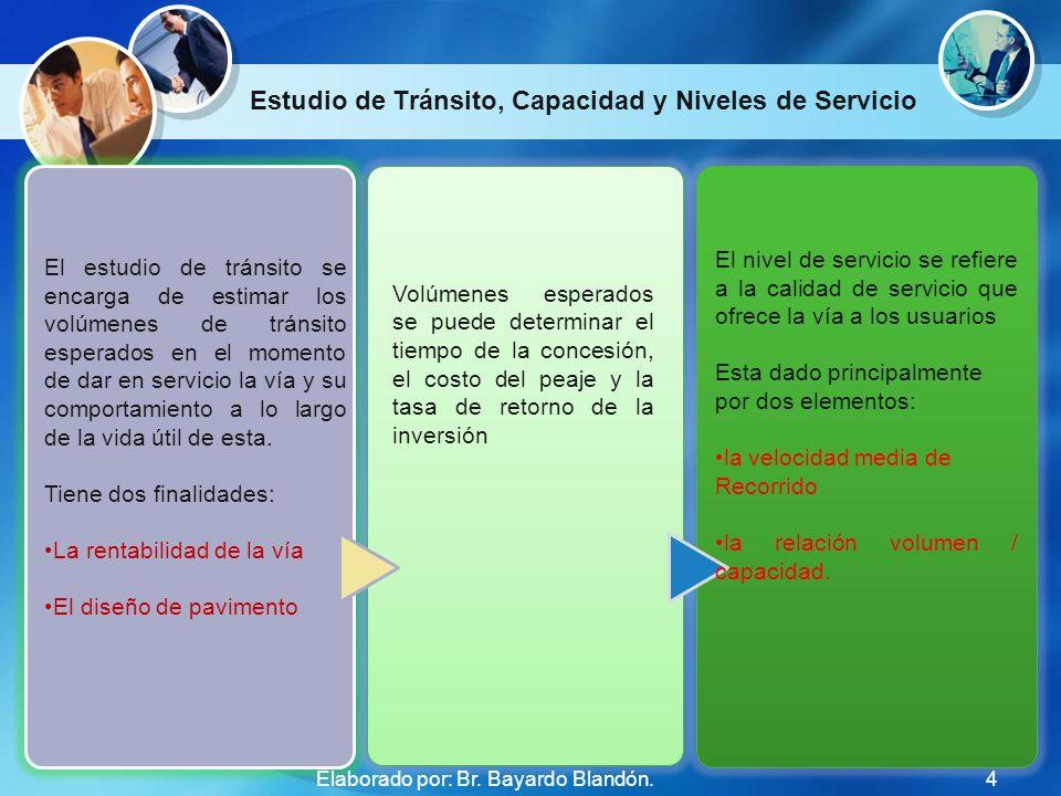 Estudio de Tránsito, Capacidad y Niveles de Servicio