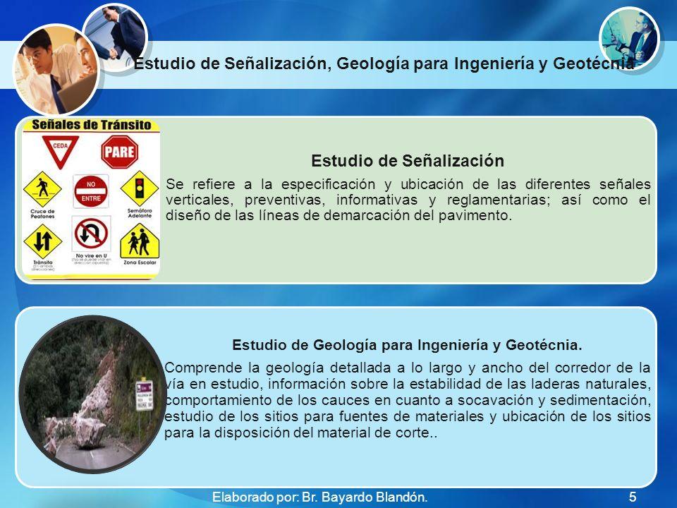 Estudio de Señalización, Geología para Ingeniería y Geotécnia