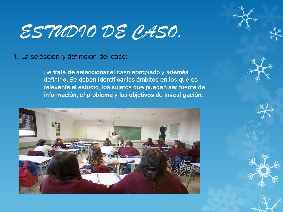 ESTUDIO DE CASO. 1. La selección y definición del caso: