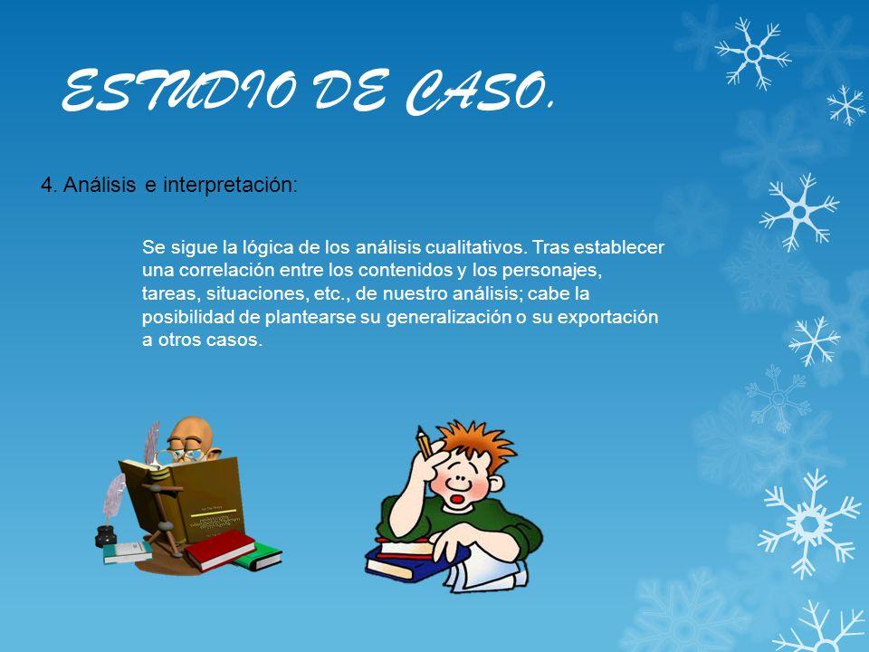 ESTUDIO DE CASO. 4. Análisis e interpretación: