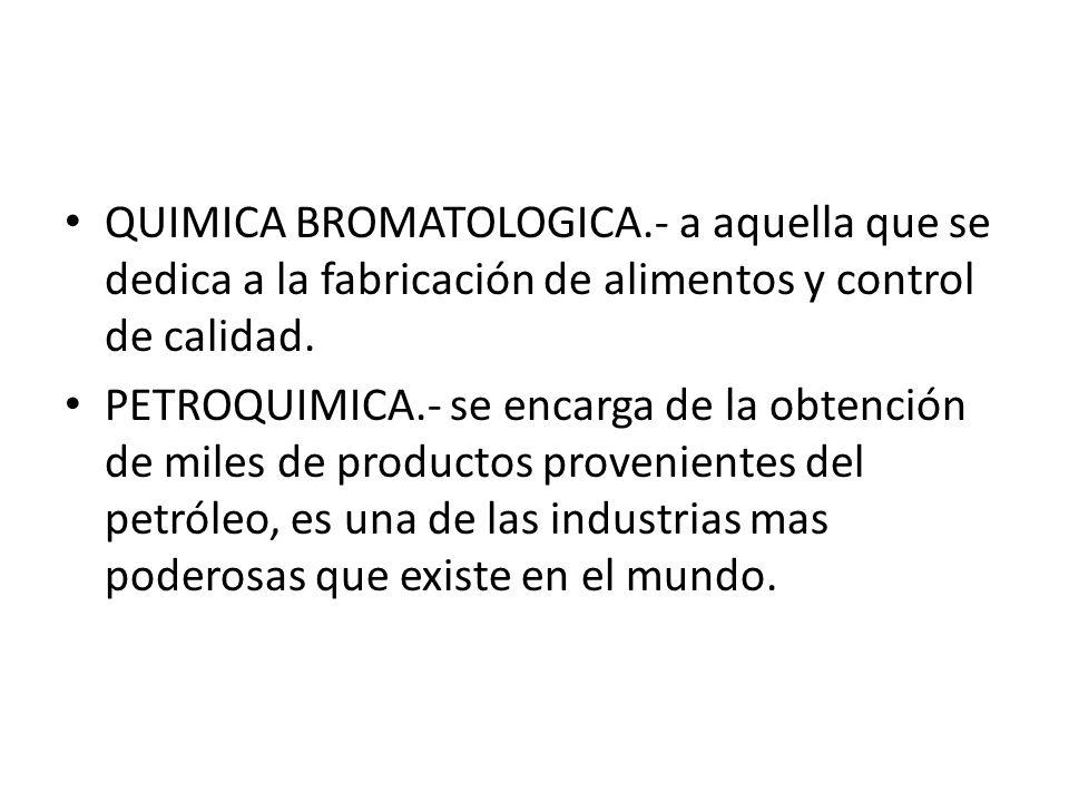 QUIMICA BROMATOLOGICA