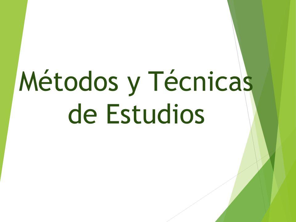Métodos y Técnicas de Estudios