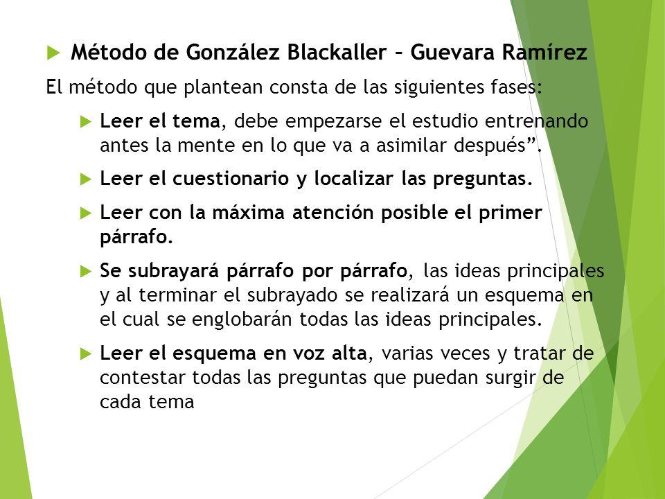 Método de González Blackaller – Guevara Ramírez