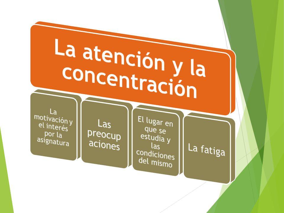 La atención y la concentración