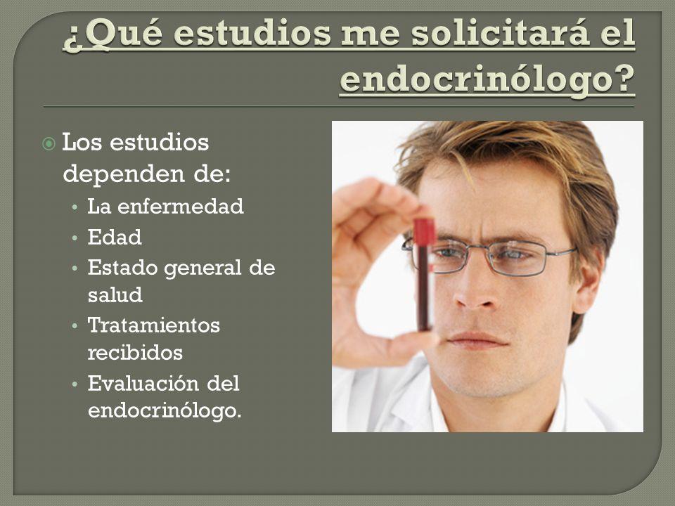 ¿Qué estudios me solicitará el endocrinólogo