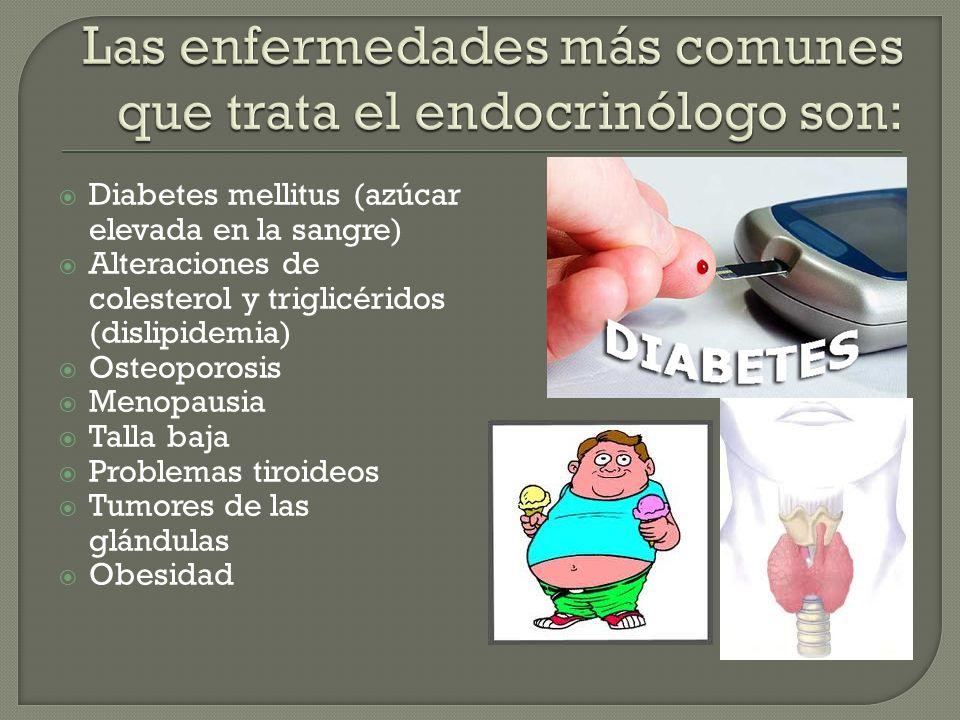 Las enfermedades más comunes que trata el endocrinólogo son: